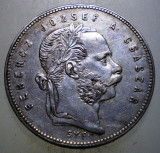 A.295 UNGARIA FERENCZ JOZSEF 1 FORINT 1868 GYF ARGINT 12,3g RARA