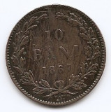 Romania 10 Bani 1867 WATT & CO. - Carol I, Cupru, 30 mm KM-4.2