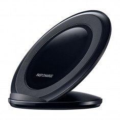Incarcator wireless tip stand Fast Charge, Negru