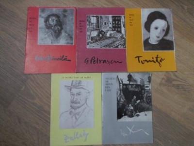 OCTAV BANCILA, G. PETRASCU, TONITZA, TH. AMAN, PALLADY. 5 MINI ALBUME ALB-NEGRU-MUZEUL DE ARTA DIN IASI foto