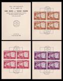 1962 Exil Romania, 3 Carnete filatelice legionari, varietati blocuri dantelate