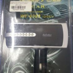Distribuitor priza auto X3 + USB 5V / 500mA