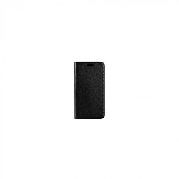 Husa Flip Samsung Galaxy S6 Edge - iberry Magnet Book Negru