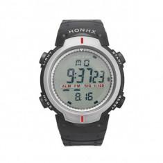 Ceas Barbatesc HONHX CS871, curea silicon, digital watch, functie cronometru, alarma