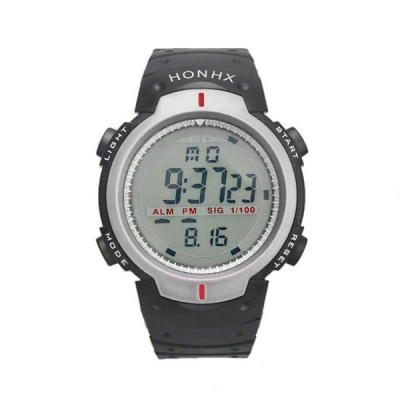 Ceas Barbatesc HONHX CS871, curea silicon, digital watch, functie cronometru, alarma foto