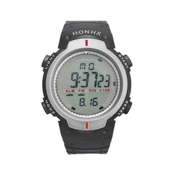 Ceas Barbatesc HONHX CS871, curea silicon, digital watch, functie cronometru, alarma
