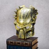 Masca carnaval Predator cu elastic de sustinere gold masca pentru copii, Universal, Auriu