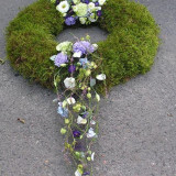 Suport inel baza pentru coronite si aranjamente florale 40 cm din muschi verde, Julimex