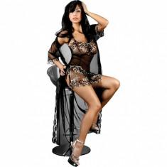 Halat LivCo Hera Peignoir Negru XXL, Livco Fashion