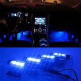 Cumpara ieftin Lampi led ambientale interior auto albastre