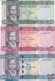 Bancnota Sudanul de Sud 1, 5 si 10 Pounds (2011) - P5-7 UNC ( set x3 )