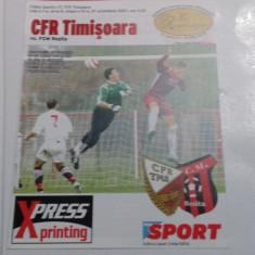 program         CFR  Timisoara   -  FCM  Resita