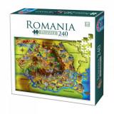 Puzzle Obiective Turistice Romania - 240 piese.