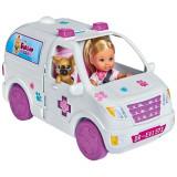 Cumpara ieftin Set Simba Evi Love Doctor Evi 2 in 1 Vet Mobile masina cu papusa 12 cm si accesorii