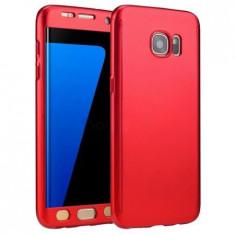 Husa Full Protection - Samsung Galaxy S7 - Rosu (fata + spate + folie de sticla)