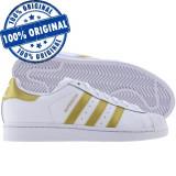 Pantofi sport Adidas Originals Superstar pentru barbati - adidasi originali, 41 1/3, Alb, Piele naturala
