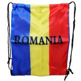 Sac sport tricolor Romania, 1 compartiment, textil, 30x40 cm, PRC