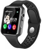 Ceas GPS Copii iUni Kid98, Telefon incorporat, Touchscreen 1.54 inch, Bluetooth, Notificari, Camera, Negru