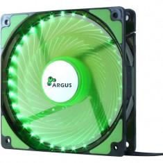 Ventilator Inter-Tech Argus L-12025 Green LED Fan