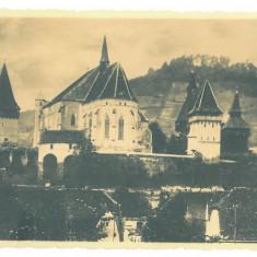 2485 - BIERTAN, Sibiu, Fortress - old postcard, real PHOTO - unused - 1936