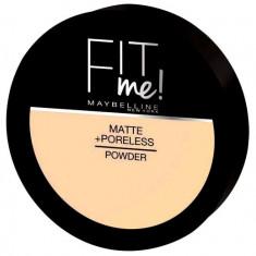 Pudra compacta matifianta Maybelline New York Fit Me Matte Poreless Pressed Powder 130 Buff Beige 14 gr