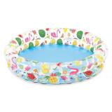 Cumpara ieftin Piscina gonflabila pentru copii, model flamingo si fructe, 1,22 m x25 cm,multicolor, Oem