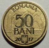 50 Bani 2017 Romania UNC, 10 Ani de la Aderarea la UE, din fisic, in capsula