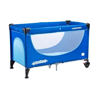 Patut pliabil pentru copii Caretero Simplo PCS1-AL1, Albastru foto