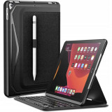 Husa cu tastatura Infiland Keyboard Stand compatibila cu iPad 7/8 10.2 inch (2019/2020) Black