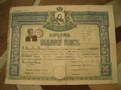 Diploma de bacalaureat teoretic, 1945 foto