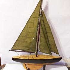 Macheta navala lemn corabie cu panze, vapor, barca, decor, 64x40 cm, Alta
