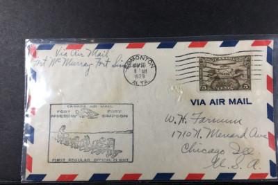 Aviatie, Zboruri, Canada 26 Nov 1929, Primul zbor Fort McMurray - Fort Simpson foto