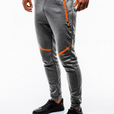 Pantaloni barbati de trening gri slim fit sport street model nou P742