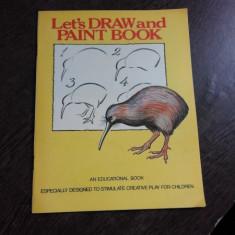 LET'S DRAW AND PAINT BOOK (CARTE DE COLORAT)