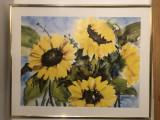 Tablou,litografie olandeza,floarea soarelui