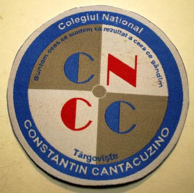 5.516 ROMANIA ECUSON COLEGIUL NATIONAL CONSTANTIN CANTACUZINO TARGOVISTE foto