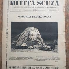 MILITIA SCUZA, SUPLIMENT MOS TEACA, caricaturi...cca 1890-1900