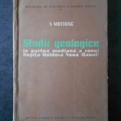 V. MUTIHAC - STUDII GEOLOGICE IN PARTEA MEDIANA A ZONEI RESITA-MOLDOVA NOUA