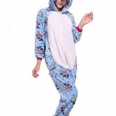 PJM142A-4 Pijama pufoasa intreaga cu model unicorn