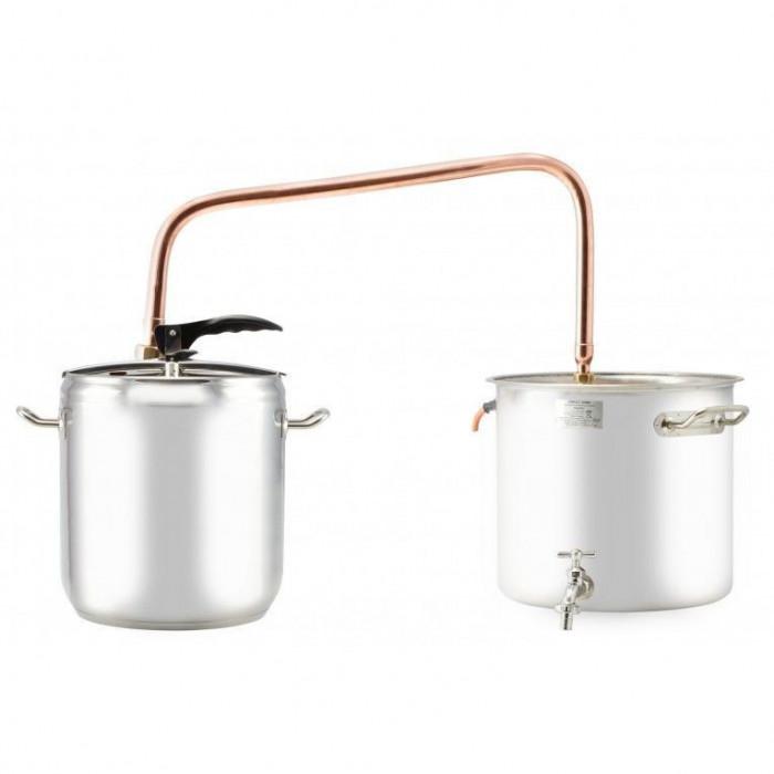 Cazan cupru-inox pentru fiert tuica 17l Handy KitchenServ