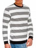 Cumpara ieftin Bluza premium barbati B1065 - alb-negru, M, XL