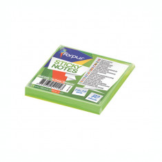 Notite adezive Forpus 42009 75x75mm 80 file verde