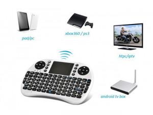 Mini tastatura wireless, cu touchpad, pentru Smart TV XBox, PS, PC, Notebook , Alb Rii