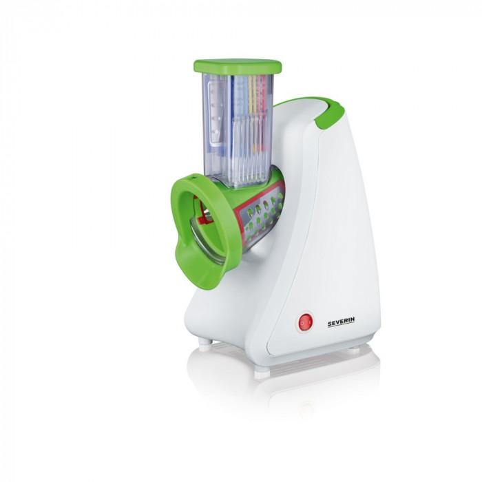 Razatoare Electrica Severin pentru Legume sau Fructe, Putere 200W, 5 Tipuri de Razuire, Alb/Verde