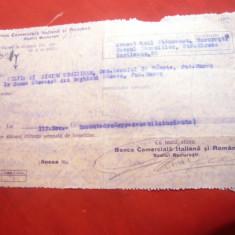 Chitanta Antet Banca Comerciala Italiana si Romana 1932 catre Banca Saseasca din