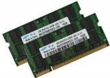 SET 2 MEMORII 2GB  DDR2 667 MHz Laptop RAM PC2-5300S SODIMM, Samsung