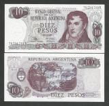 ARGENTINA    10  PESOS   1973   UNC  [1]  P - 289a.6  ,  necirculata