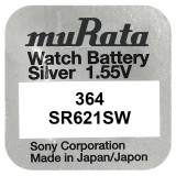Baterie de ceas Murata 364 AG1 SR621SW 1.55V 1 Baterie /Set