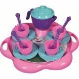Set de ceai cu tavita 16 piese Ice World Ucar Toys UC124Initiala