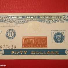 Bon 50 dollars Casino Palace Bucuresti